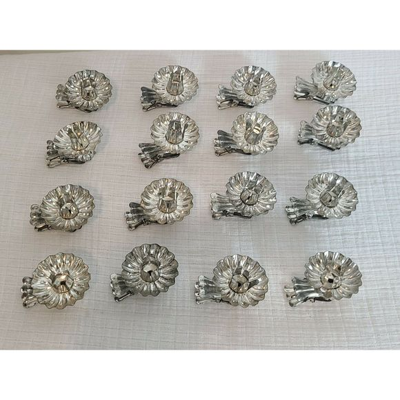 Vintage Tin Candle Holders 16 Clip-on Christmas